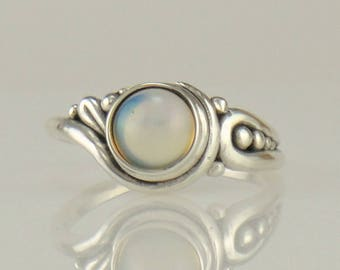 R1123- Sterling Silver Ethiopian Opal Ring- One of a Kind