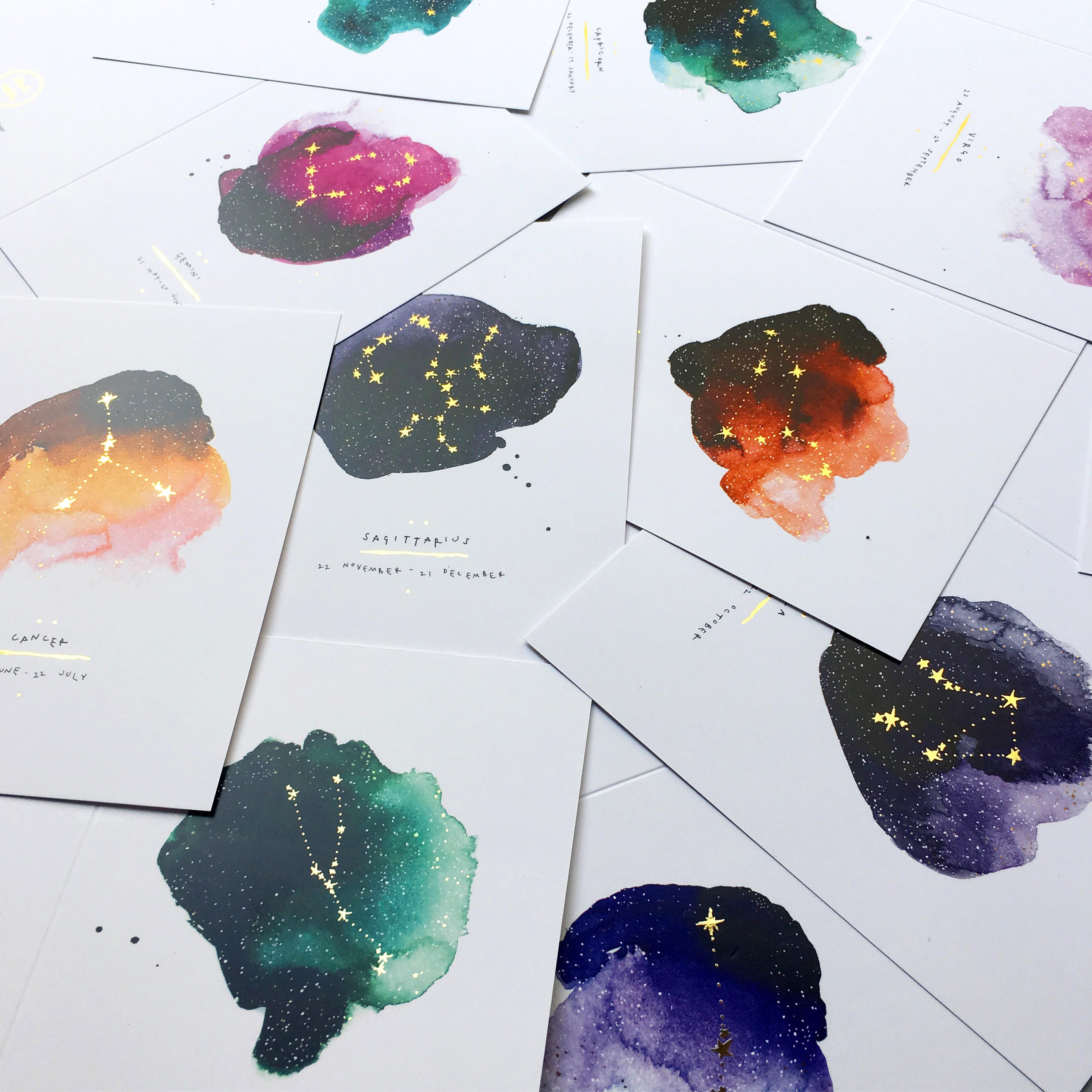 Inky star sign greeting card collection blank inside inky star sign greeting card collection blank inside beautifully illustrated eco friendly stationery kristyandbryce Images