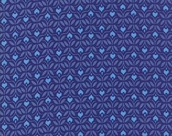 Kate Spain Voyage Fabric by the Yard, Capri in Delft Blue, Moda Fabrics, 27285-14