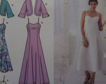 PRINCESS SEAM DRESS Pattern • Simplicity 3741 • Miss 8-16 • Bolero Jacket • Sweetheart • Sewing Patterns • Modern Patterns • WhiletheCatNaps