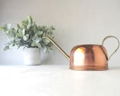 Vintage Watering Can Copper Brass Rustic Mid Century Small Size