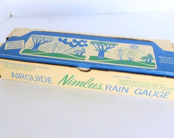 Airguide Nimbus Rain Gauge Model 609B Measure Rainfall Post or Ground Mount New Old Stock NOS