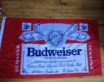 Vintage Budweiser flag