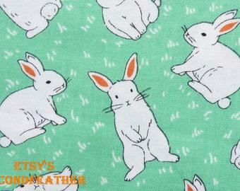 Hopping Rabbit - Nesshome - 100% Cotton Fabric - Fat Quarter - more for one cut - B1