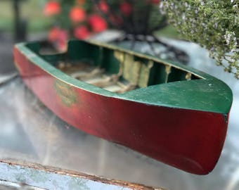 Vintage Wooden Toy Boat