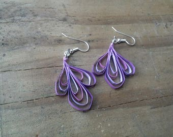 Purple Loop Quilled Earrings