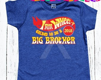 Big brother to be BIG BROTHER car tee - personalized tee shirt boys 2018 big brother promotion announcement tee shirt
