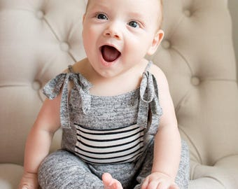 6-9 months Light Grey Romper,Photography Prop Overalls,6-9 months Boy Outfits,Toddler Photography Props,Sitters Overalls,Sitters Props