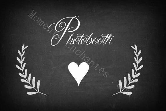 "Panneau mariage Baptême "" Photobooth """