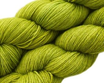 hand dyed yarn KEY LIME PIE pick your base - sw merino bfl silk nylon stellina fingering dk