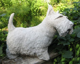 Concrete Large Scottish Terrier Dog Statue********* PAINTED BLACK*************         (Shipping is for East of the Mississippi River)