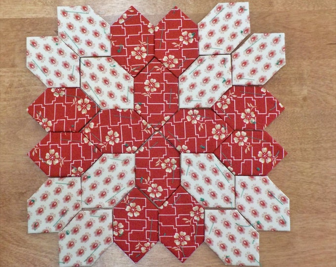 Lucy Boston Patchwork of the Crosses civil war block kit #37