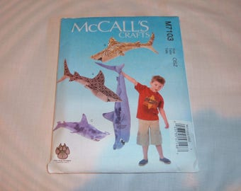 McCall's Pattern #M7103 for Stuffed Whales-Cut