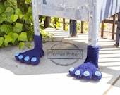Monster Feet Yarn Bomb Crochet Pattern PDF, Yarnbombing Street Art Public Art DIY