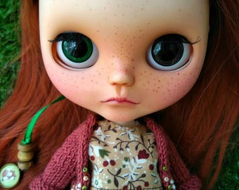 Custom Blythe Dolls For Sale by Custom Blythe doll OOAK Red hair and freckled