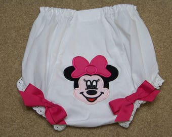 Minnie Mouse Diaper Cover / Pink  / Disney / 1st Birthday / Bloomers / Newborn / Infant/ Baby / Girl / Toddler / Custom Boutique Clothing