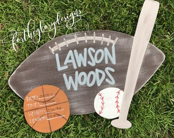 sports theme // hospital door hanger for boys