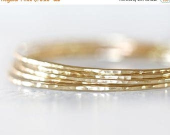 MOON DAY SALE Gold Bangles / Stacking Bangles / Nu Gold Bracelets / Chic Fashion Fresh Finds Hand Hammered / Unique / Fashion Trend / Gold T