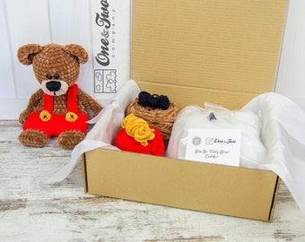 Ben the Teddy Bear Cuddler - DIY Crochet KIT
