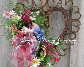 Sale U0026 Free Ship Thru 1/2 Floral Wreath, Heart Wreath, Victorian Wreath