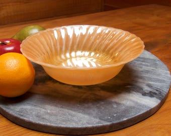 Vintage Anchor Hocking Fire King Peach Lustre Fruit Dish