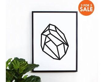 Abstract Geometric Art, wall art prints, geometric print, black and white, wall decor, graphic, inspirational, scandinavian, original