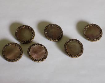 Set of 6 Early 1900's French Made Buttons