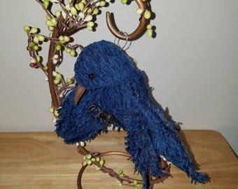 Bluebird soft sculpture bird, OOAK