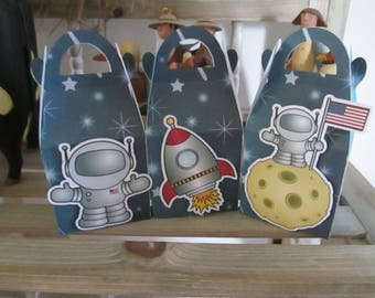 Space Favor Boxes Set of 30 with Free Shipping