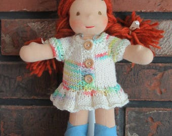 Handknit Dress for Piccolina's and Other 9 Inch Dolls