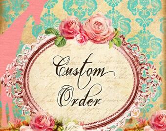Reserved custom order. Blue sequin Cinderella gown