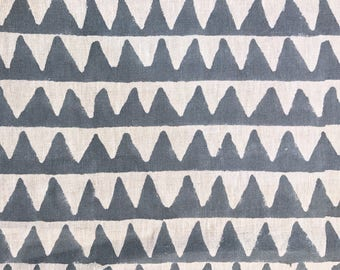 Pyramids pillow cover in Slate Linen