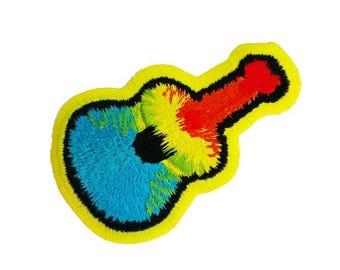 Groovy Tie Dye Guitar Patch