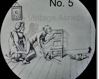 Magic Lantern Slide, Victorian Glass Slides, Victorian Toys, Mr. & Mrs. Brown and the Mouse, Lantern Slides No. 5