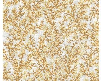 ON SALE Goldenrod Calico Cotton Fabric Yardage