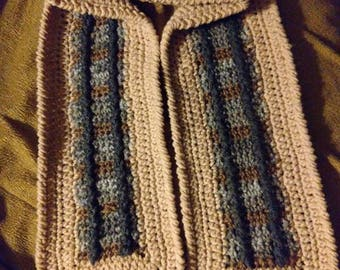 Chugging Along the Train Tracks Scarf.