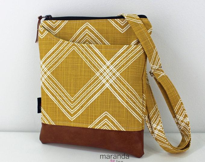 ZOE Messenger Cross Body Sling Bag - Colton Saffron Yellow  READY to SHIp