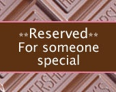Reserved for Paula K
