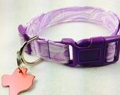 Purple Swirl Dog Collar - Adjustable