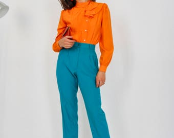 80s Tapered High Waisted Trousers
