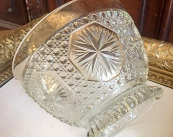 Imperial Glass Company Star and Medallion (#671) Footed Bowl