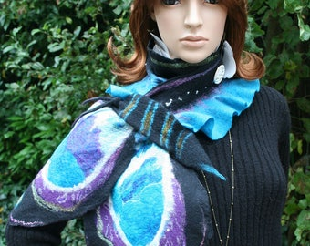 "Felt and ""Enchanted Butterfly"" silk scarf"