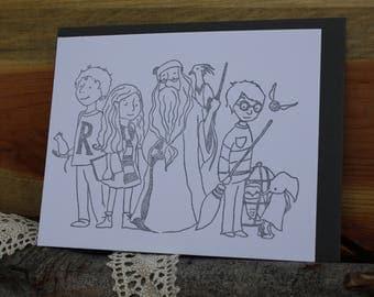 Harry Potter wizard community flat card