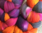 Polwarth Combed Top Roving Hippie Chick Colorway