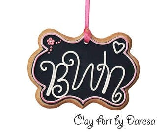 Monogram cookie ornament keepsake