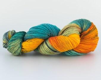 Laine Tricotcolor teinture fourniture dye knit accessories fil laine multicolore vert orange jaune