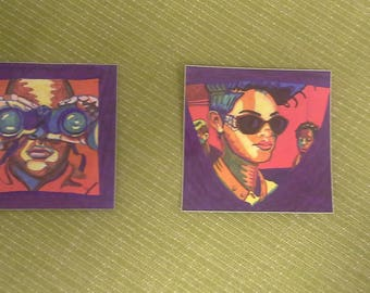 Two Art Stickers