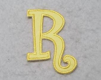 Single 5 inch Upper Case Letter (a - z) (Curlz font) MADE to ORDER - Choose COLOR and Letter - fabric Iron on Applique Patch z 6001