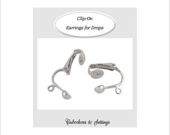 20 Clip-on Silver Earring for Drop Earrings  HYPO ALLERGENIC Australia Seller