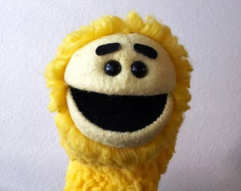 Yellow Monster Creature Hand Puppet